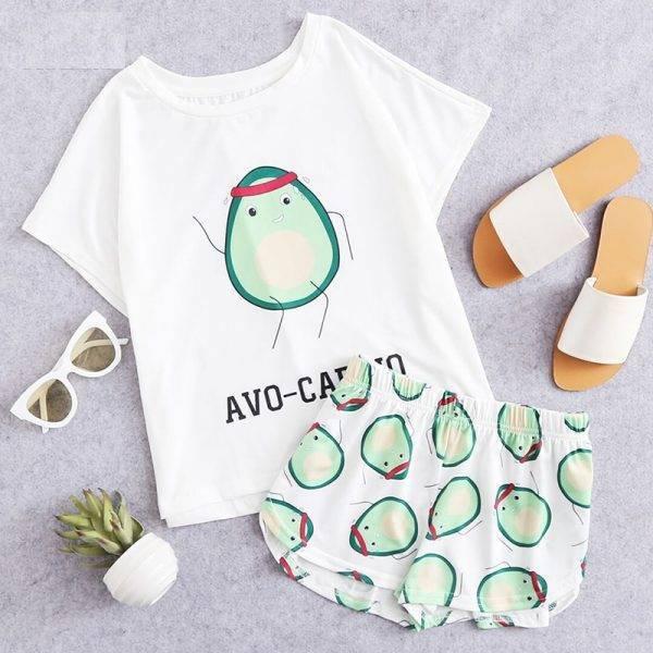 El Aguacate Store Pijama Verano Avo-cardio